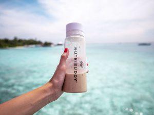 Nutribuddy White Shaker Bottle