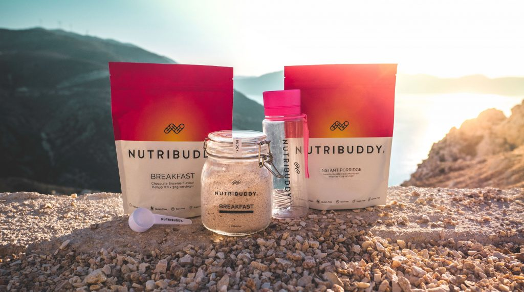 Nutribuddy Breakfast Bundle on cliffside