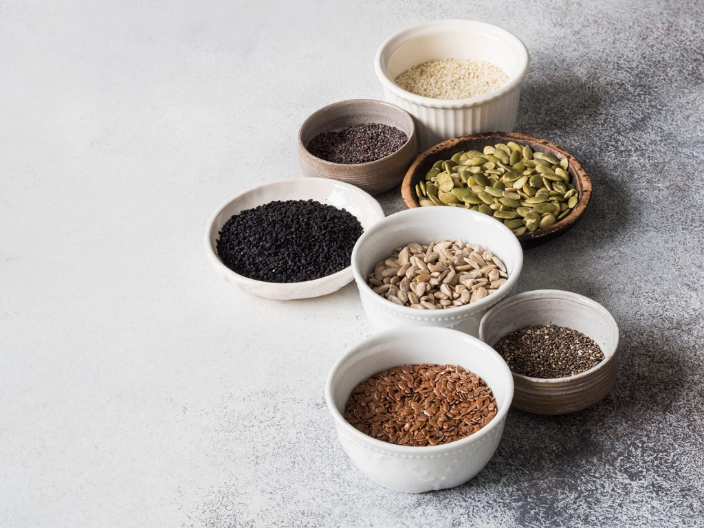 healthy seeds used in meal replacement shakes