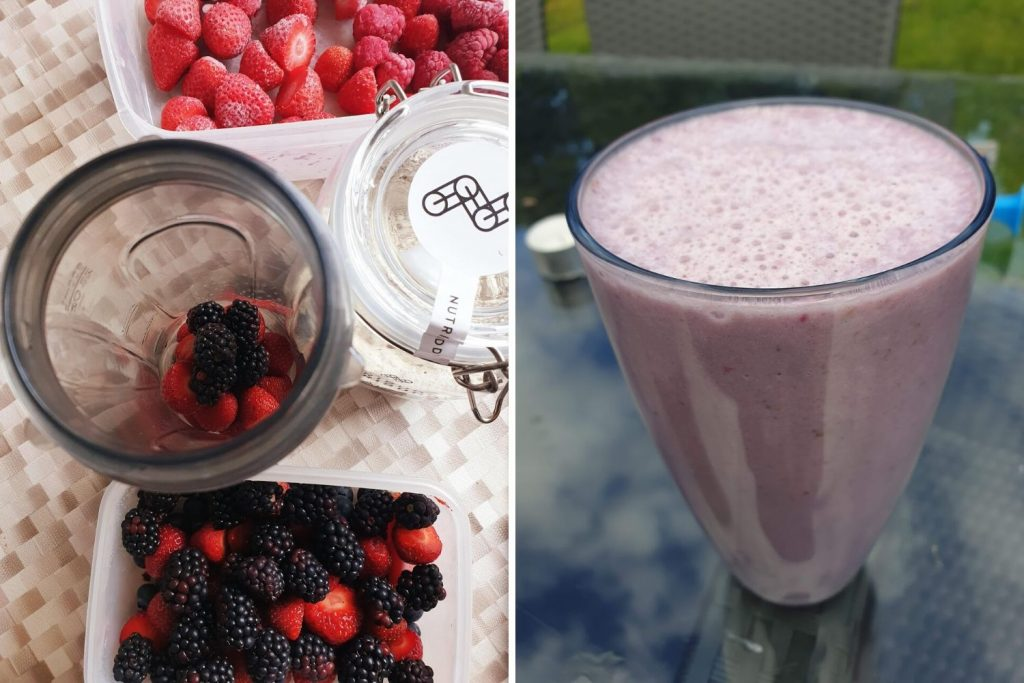 Berry Smoothie Breakfast Shake