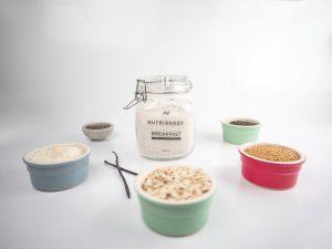 Nutribuddy Breakfast shake's natural wholefood ingredients