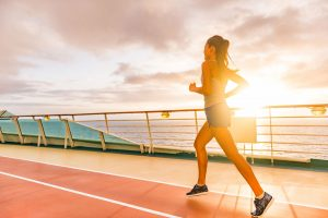 woman jogging staying healthy